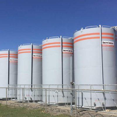 400 BBL Storage Tank rentals at IronCreek